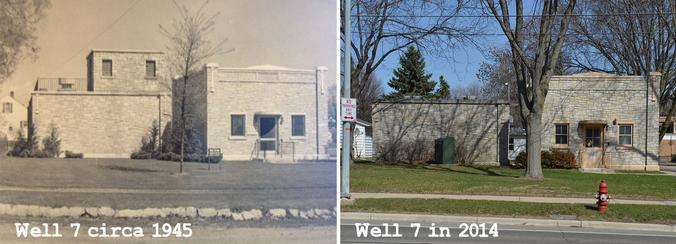 A look at well 7 in 1945 and today
